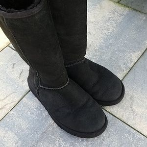 Ugg boots black tall uggs woman's size 7